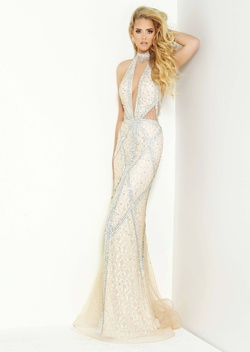Style 6320 Jasz Couture Nude Size 2 Pattern Straight Dress on Queenly