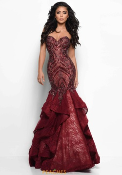 Queenly size 14 Jasz Couture Red Mermaid evening gown/formal dress