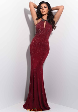 Style 7057 Jasz Couture Red Size 8 Backless Train Tall Height Straight Dress on Queenly