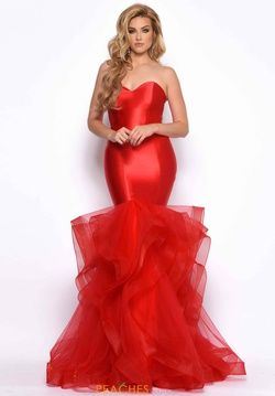 Queenly size 8 Jasz Couture Red Mermaid evening gown/formal dress