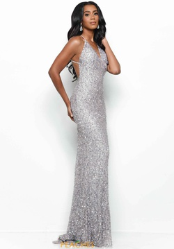 Queenly size 00 Jasz Couture Silver Straight evening gown/formal dress