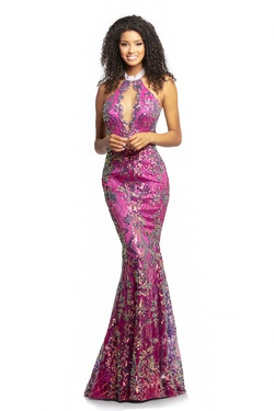 Queenly size 4 Johnathan Kayne Pink Mermaid evening gown/formal dress