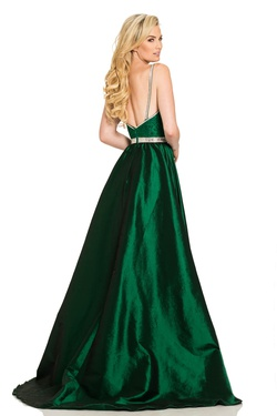 Style 7242 Johnathan Kayne Green Size 8 Jersey Overskirt Train Dress on Queenly