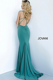 Style 00512 Jovani Green Size 2 Train Dress on Queenly