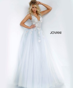 Queenly size 0 Jovani Blue Ball gown evening gown/formal dress