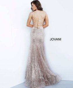Style 2388 Jovani Silver Size 2 Sheer Tall Height Mermaid Dress on Queenly