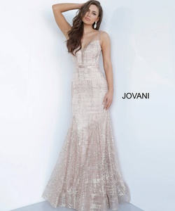 Queenly size 2 Jovani Silver Mermaid evening gown/formal dress