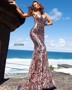 Queenly size 8 Jovani Multicolor Mermaid evening gown/formal dress