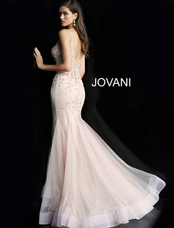 Style 63704 Jovani Pink Size 14 Backless Mermaid Dress on Queenly