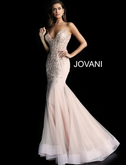 Queenly size 14 Jovani Pink Mermaid evening gown/formal dress