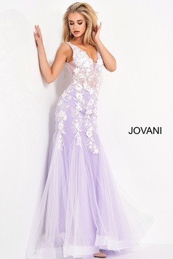 Queenly size 14 Jovani Purple Mermaid evening gown/formal dress