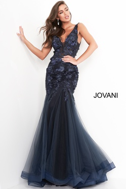 Queenly size 8 Jovani Black Mermaid evening gown/formal dress