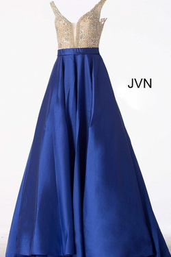 Queenly size 16 Jovani Blue Ball gown evening gown/formal dress