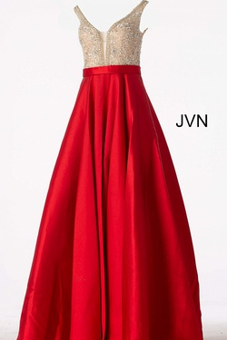 Style JVN60696 Jovani Red Size 18 A-line Pockets Ball gown on Queenly