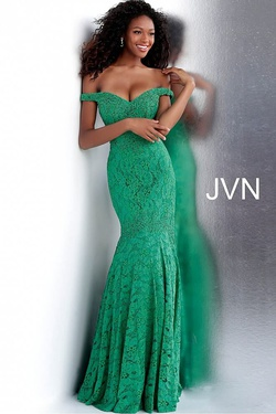 Queenly size 24 Jovani Green Train evening gown/formal dress