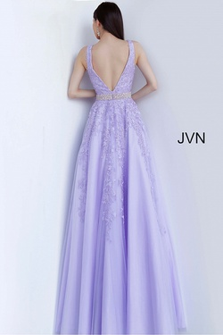 Style JVN68258 Jovani Purple Size 0 A-line Tulle Ball gown on Queenly