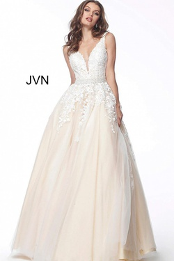 Queenly size 20 Jovani Nude Ball gown evening gown/formal dress