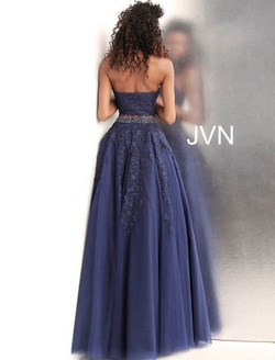 Style JVN68259 Jovani Blue Size 4 Tall Height Ball gown on Queenly