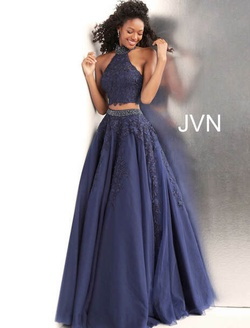 Queenly size 4 Jovani Blue Ball gown evening gown/formal dress
