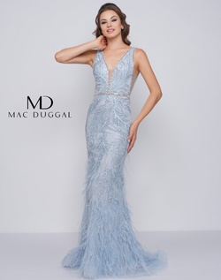 Queenly size 4 Mac Duggal Blue Mermaid evening gown/formal dress