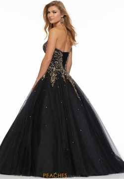 Queenly size 18 Mori Lee Black Ball gown evening gown/formal dress