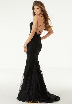 Queenly size 0 Mori Lee Black Mermaid evening gown/formal dress