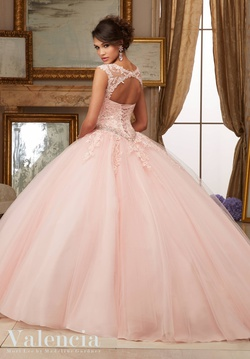 Style 60006 Mori Lee Pink Size 0 Tall Height Lace Ball gown on Queenly