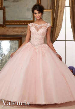 Queenly size 22 Mori Lee Pink Ball gown evening gown/formal dress