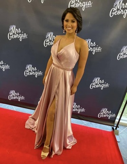 Sherri Hill Pink Size 10 Prom Silk Side slit Dress on Queenly