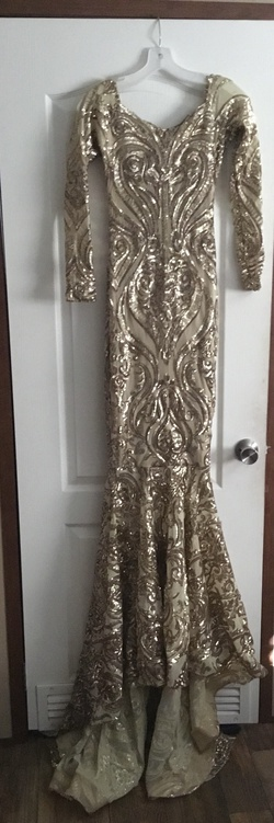 Queenly size 2  Gold Mermaid evening gown/formal dress