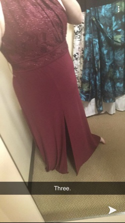 Queenly size 20 Morgan & Co Red Straight evening gown/formal dress