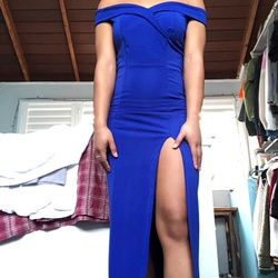 Queenly size 2  Blue Side slit evening gown/formal dress