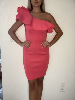 Jovani Pink Size 2 Coral Cocktail Dress on Queenly