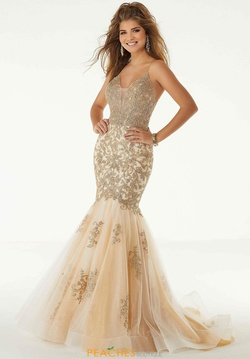 Queenly size 10 Mori Lee Gold Mermaid evening gown/formal dress