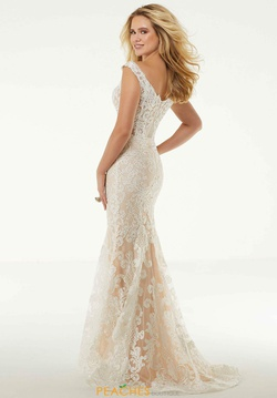 Style 45065 Mori Lee White Size 26 Cap Sleeve Fitted Train Mermaid Dress on Queenly