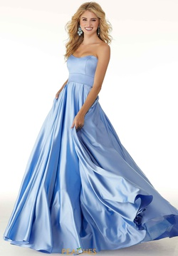 Queenly size 18 Mori Lee Blue Ball gown evening gown/formal dress