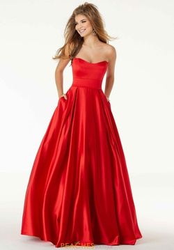 Queenly size 22 Mori Lee Red Ball gown evening gown/formal dress