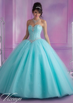 Queenly size 24 Mori Lee Blue Ball gown evening gown/formal dress