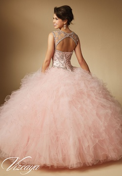 Style 89041 Mori Lee Pink Size 16 Quinceanera Tulle Tall Height Ball gown on Queenly