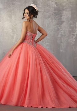 Style 89171 Mori Lee Pink Size 8 Corset Tall Height Ball gown on Queenly