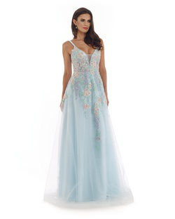 Queenly size 10 Morrell Maxie Blue A-line evening gown/formal dress
