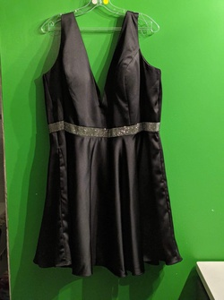 Queenly size 22  Black A-line evening gown/formal dress