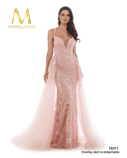 Style 16311 Morrell Maxie Pink Size 8 Tall Height Train Dress on Queenly