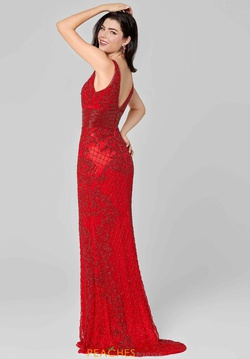Style 3425 Primavera Red Size 20 V Neck Backless Straight Dress on Queenly