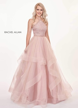 Queenly size 6 Rachel Allan Pink Ball gown evening gown/formal dress