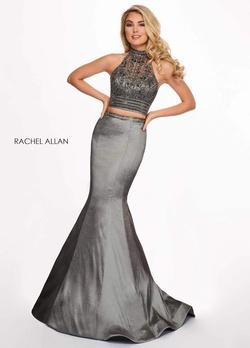 Queenly size 4 Rachel Allan Silver Mermaid evening gown/formal dress