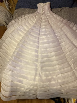 Marys Bridal White Size 6 Wedding Sweetheart Ball gown on Queenly