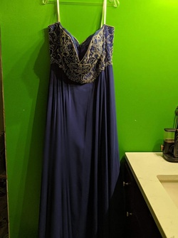 Blue Size 20 Ball gown on Queenly