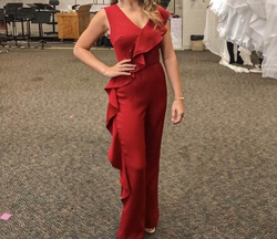 Red Size 0 Jumpsuit Dress on Queenly