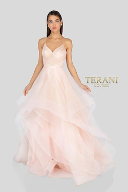 Queenly size 8 Terani Couture Pink Ball gown evening gown/formal dress